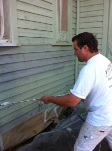 horizontal exterior siding spray painting Pointe-Claire